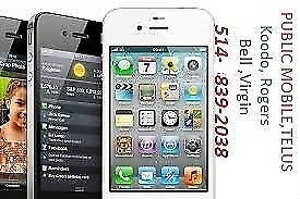 iphone4 work with koodo telus public mobile with box $99
