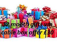 12 month lines gifts cable box mag box amiko skybox istar zgemma mutant evo nova openbox