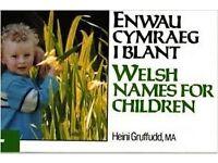 Book: Welsh Names For Children / Enwau Cymraeg i Blant by Heini Gruffudd
