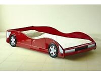 CHILD'S RED Racing CAR BED (3ft)