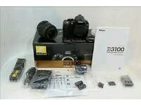 Nikon d3100 VR kit fantastic condtion no marks with box accessories £180