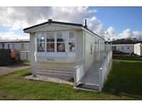JUST £16750 THIS MODERN HOLIDAY HOME WITH CH & DG / 37 X 12 / 3 BEDROOM