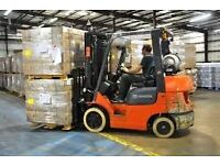 Forklift, Reach Truck and Van Driver Required