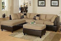"BESTDRY UPHOLSTERY SECTIONAL ""L SHAPED "" CLEANING  $100"
