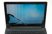 Damaged Laptop Screen Replacement - Calgary NW