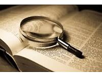 Proofreading in Sheffield, free 2 page sample, business and Student