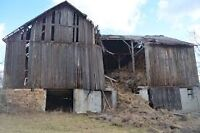 We remove old barns