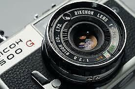 Ricoh 500G great 1970's Japanes Rangefinder Camera with Rikenon