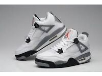 NIKE AIR JORDAN 4 AND 5 VINTAGE CEMENT MILITARY BLUE FIRE RED