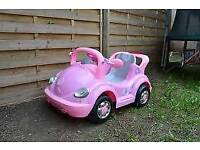 For sale Girls Pink BEETLE STYLE ELECTRIC Ride on car