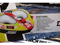 JOBE DOUBLE TROUBLE BRAND NEW INFLATABLE FOR BOAT OR JETSKI