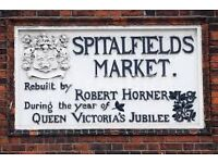 Fantastic opportunity to run a boutique fashion stall in the historic Spitalfields Market