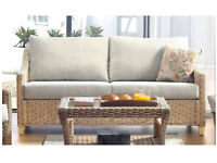 Natural Conservatory 3-Seater Sofa