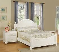 freedom cream white solid queen bed frame+2 bedside table Campsie Canterbury Area Preview