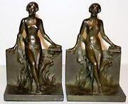 Vintage Bronze Bookends
