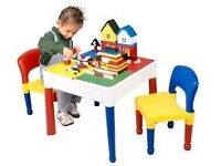 5 in 1 STORAGE BLOCK DESK/TABLE SET GREAT FOR LEGO LOVERS