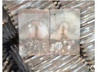 Reclaimed handmade 11x7 clay roof tiles