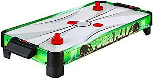 Power Play 40-in Portable Table Top Air Hockey for Kids