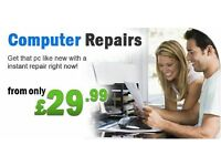 REMOTE ONLINE LAPTOP OR COMPUTER REPAIRS FROM £29.99