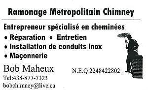 ramonage metropolitain chimney