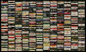 100's of music cassette tapes