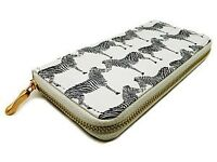White Purse with Black Zebra Print and Gold Zip