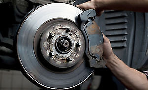 Brake pad change $45. Oil change $35, Shop open 7 days a week