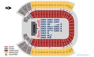 GUNS N' ROSES & OUR LADY PEACE 2 TICKETS AUG 30 2017 6:00 PM