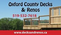 Late season Deck & Fence discounts