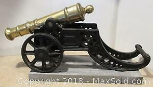 Large Brass Cannon