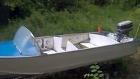 Aluminum Motor Boat, Trailer and 30 hp Evenrude Motor