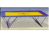 School kids and adults Gymnastic Trampoline for sale working condition nylon bed small size