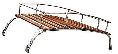 VW Vintage Parts Dark Wood, Two-Bow Kombi Bus Roof Rack For All Years comprar usado  Enviando para Brazil