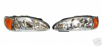 1997 1998 FORD ESCORT LH Driver RH Passenger Headlights headlamp L & R (1998 Ford Escort Headlights)