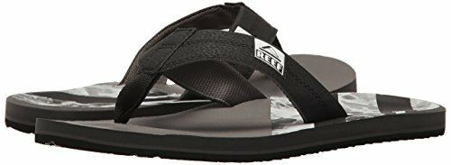 Reef Men's HT Prints Flip Flop Sandal RF2076 Black/Reef Wate