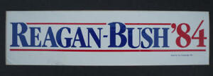 1984 Reagan Bush '84 Classic Bumper Sticker
