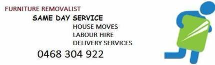 SAME DAY SERVICES-FURNITURE REMOVALIST