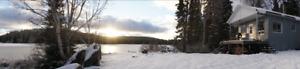 Chalet double - zec la Lièvre sur le bord d'un lac - WOW!!