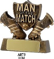 Man of the Match Soccer Trophy 8cm Engraved FREE