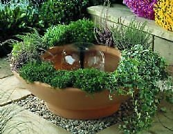 Large terracotta garden planter water feature