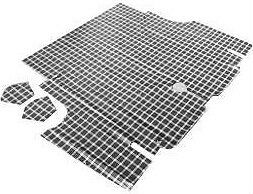 1967 1968 ford mustang boot mat plaid coupe convertible 67 for 1967 ford mustang floor mats