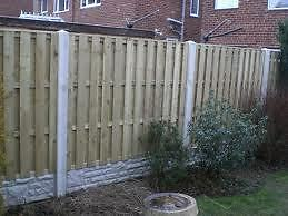 5' High x 6' Wide Tanalised 'Hit & Miss' / Double Palisade Fence Panels