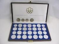 MONNAIE, olympique 1976 en argent sterling .925 diamants