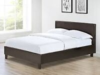 KinG anD Double size leather bed