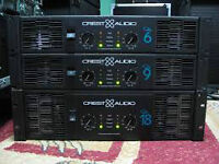 4x dual 18 yorkville subs and amp to run them