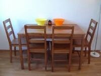IKEA table and 4 chairs