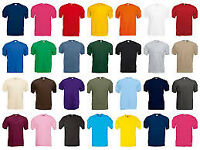FRUIT OF THE LOOM T SHIRT PLAIN JOB LOT **ANY 3 T SHIRTS FOR £5**