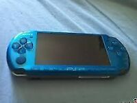 SONY PSP 3000 VIBRANT BLUE 4 GAMES 2GB MEMORY CARD
