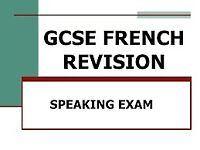 Quality language activity in Guisely ! French GCSE / French lesson tables