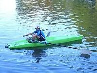 Rowing Boat Glide solo single sculls -​​ great value, robust rowing boats. (Kayaks)